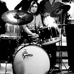 Charlie Watts ed il suo set Gretsch