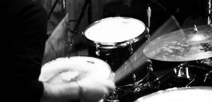 Batterista in studio di registrazione