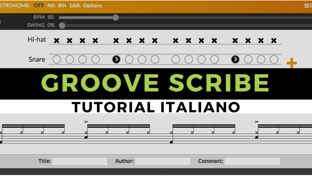Tutorial Groove Scribe in italiano