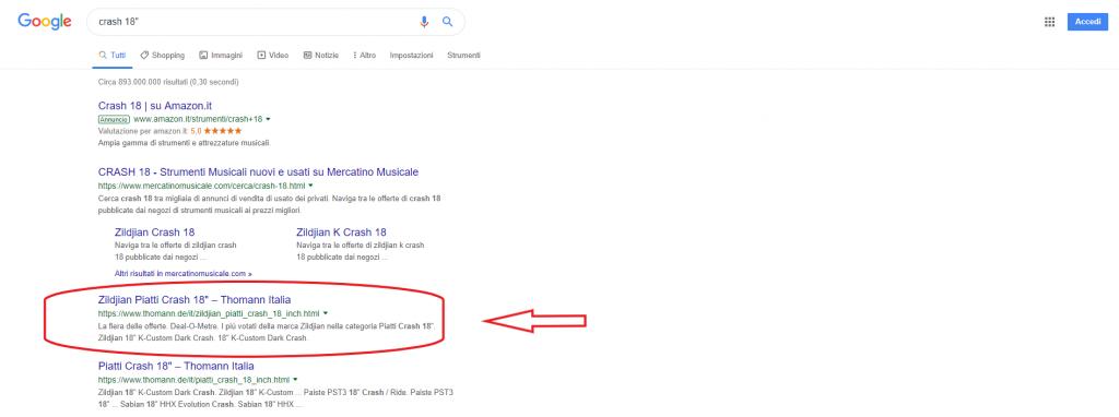 Ricerca Google Thomann